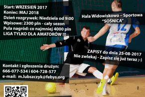 Zapisy do V edycji ligi piłki halowej Company Futsal League sezon 2017/2018