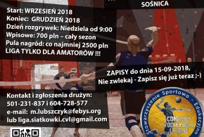 Zapisy do Company Volleyball League sezon 2018/2019
